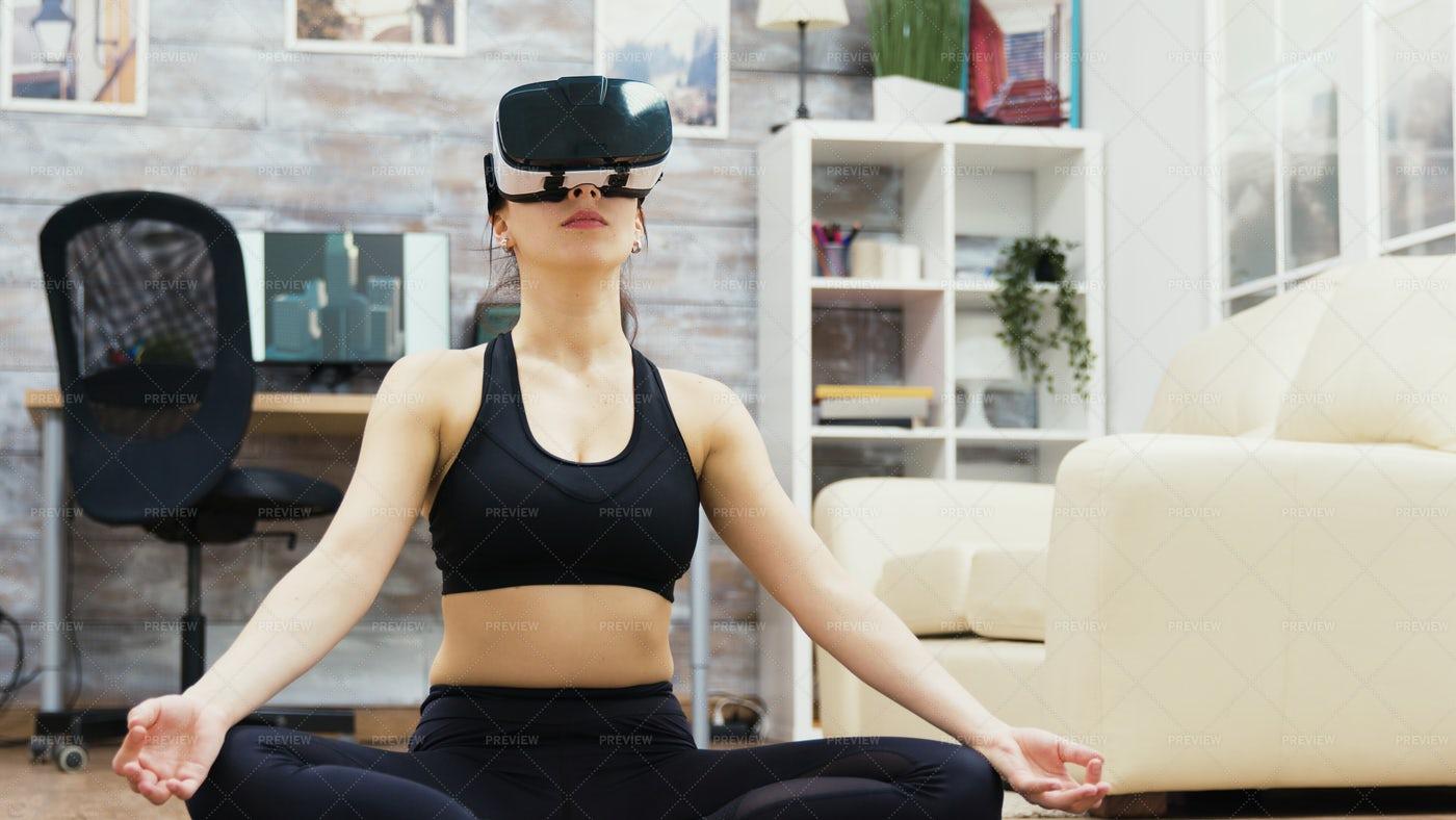 Virtual Reality Yoga: Stock Photos