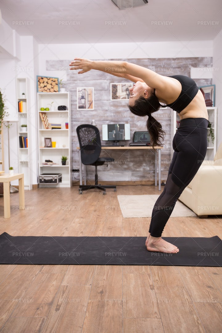 Stretching Backwards: Stock Photos