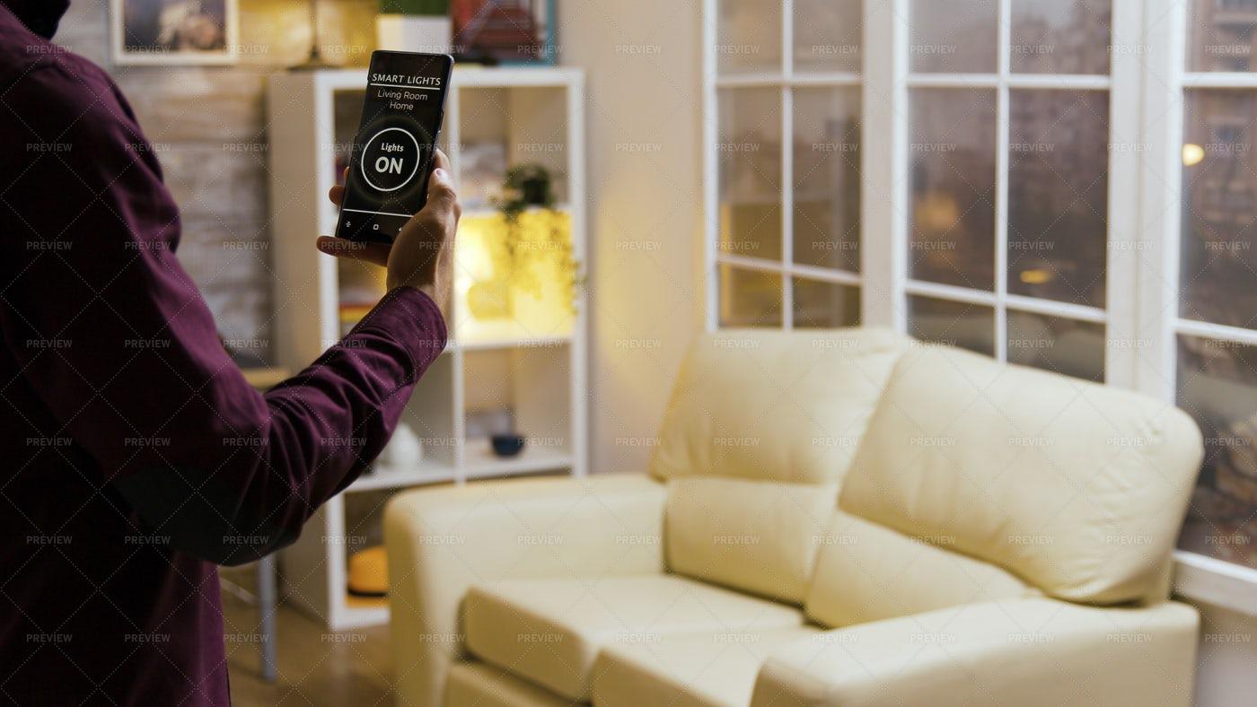 Smart Light App: Stock Photos