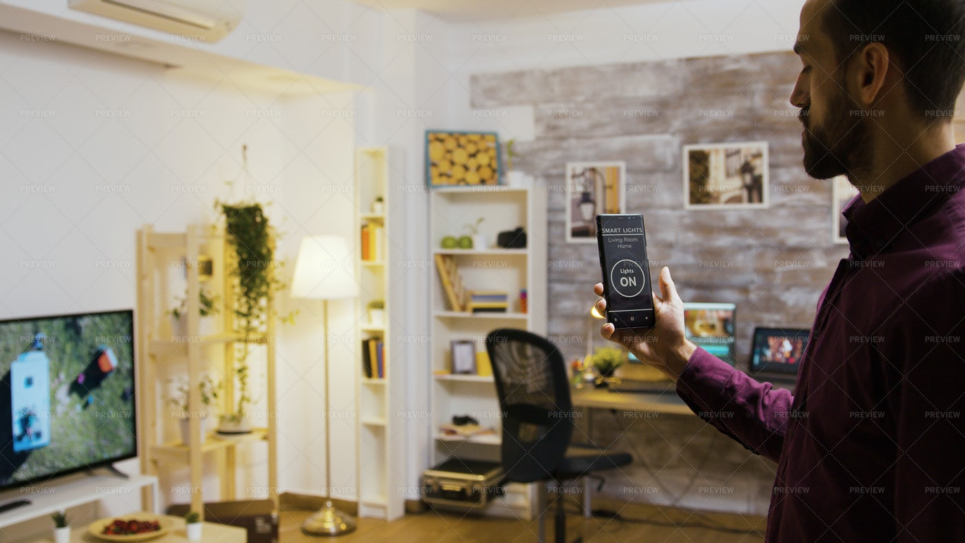 Controlling Lounge Lighting: Stock Photos