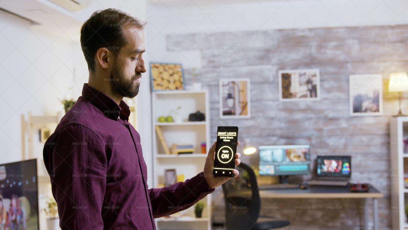 Wireless Lighting Application: Stock Photos