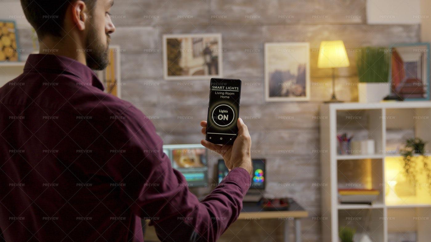 Smart Light Phone App: Stock Photos