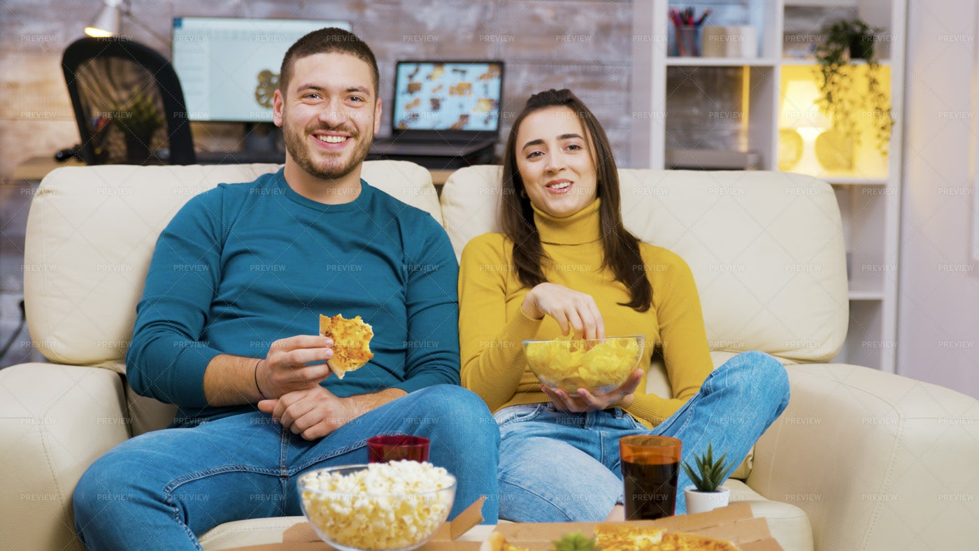 Eating Snacks Together: Stock Photos