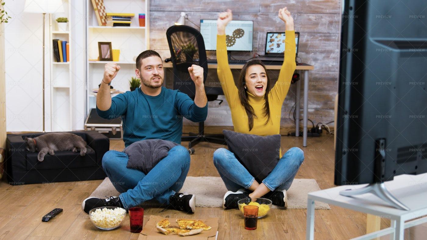 Caucasian Young Couple Having Fun: Stock Photos