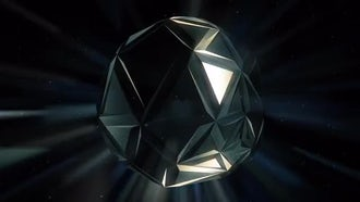 Black Crystal Background: Motion Graphics