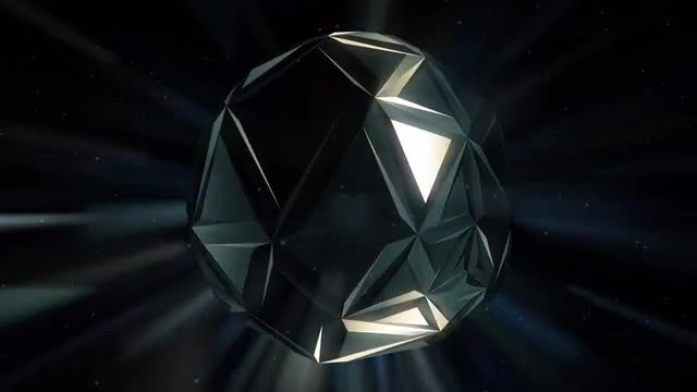 Black Crystal Background: Stock Motion Graphics