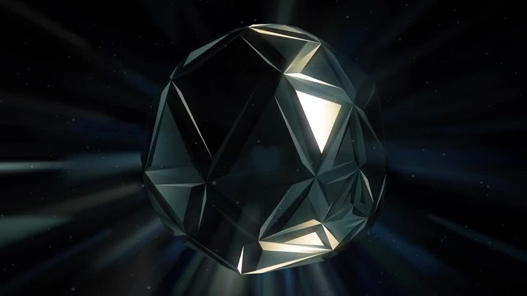 Black Crystal Background: Motion Graphics