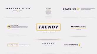 Trendy Short Pack: After Effects Templates