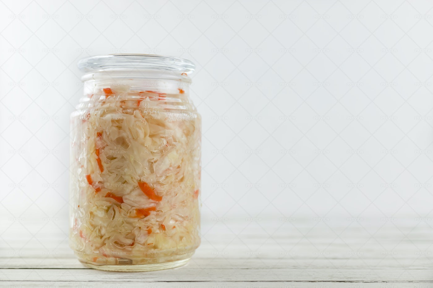 Fermented White Cabbage.: Stock Photos