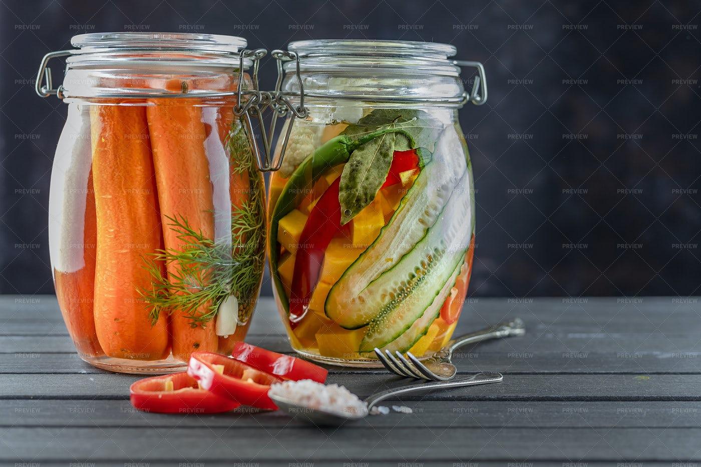 Fermented Vegetables: Stock Photos