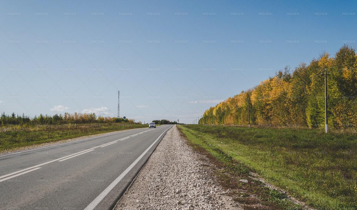 Long Strip Of Rural Highway: Stock Photos