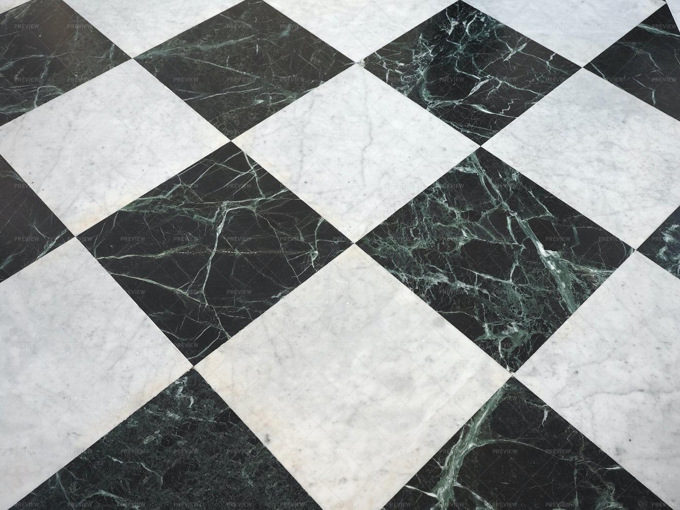 Checkered Marble Floor: Stock Photos