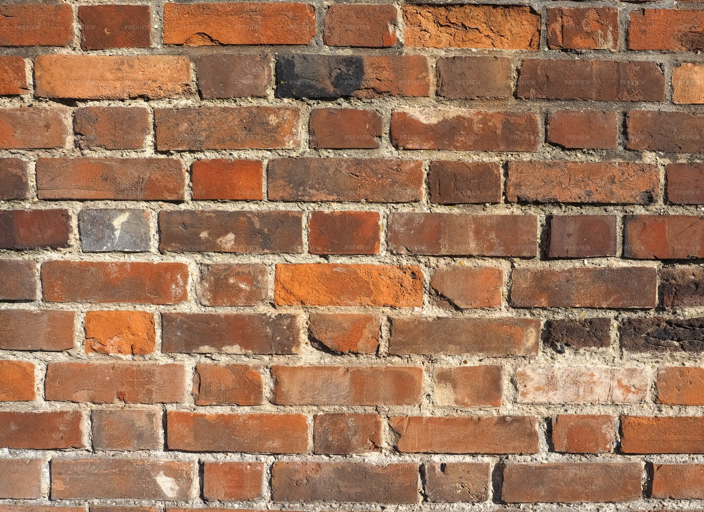 Red And Brown Brick Wall: Stock Photos