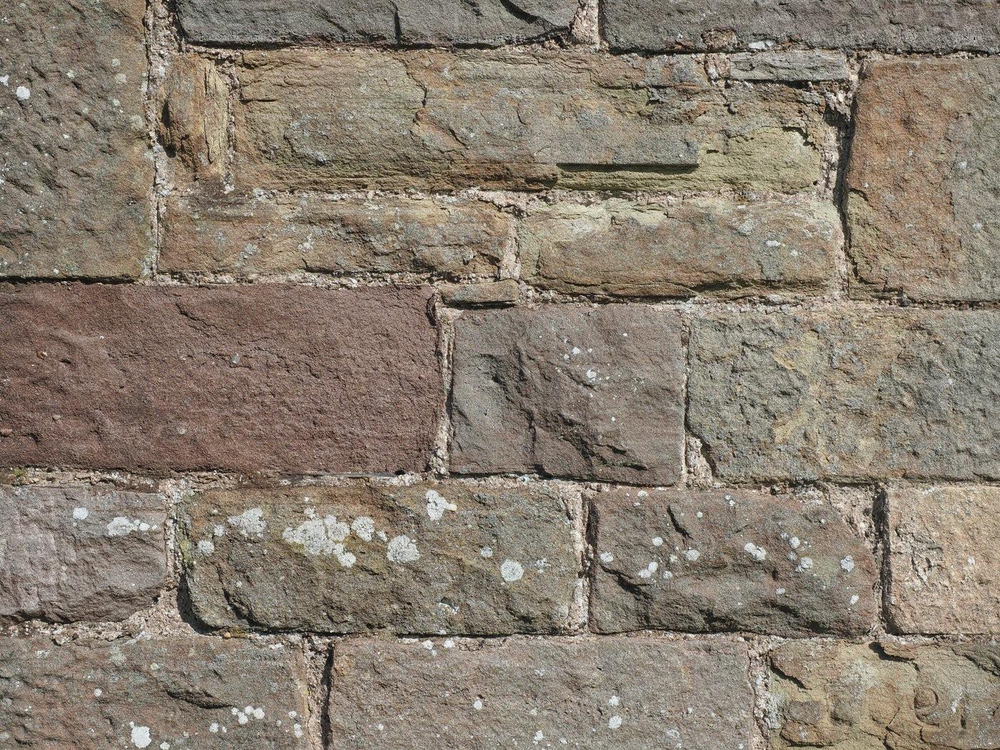 Washed Stone Wall Background: Stock Photos