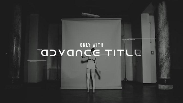 Advance Title: Motion Graphics Templates