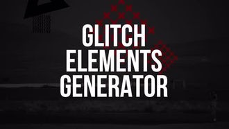 Glitch Elements Generator: Motion Graphics Templates