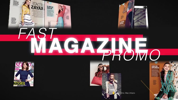 Fast Magazine Promo: After Effects Templates