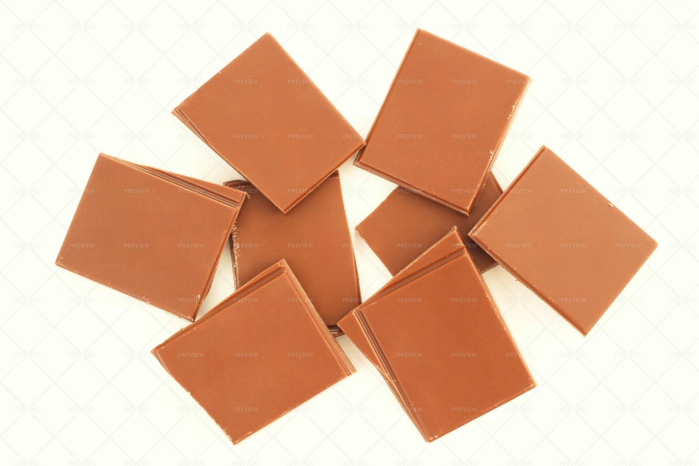 Pieces Of Milk Chocolate: Stock Photos