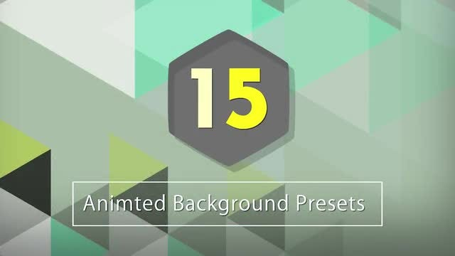 After Effects Presets: 15 Animated Backgrounds: After Effects Presets