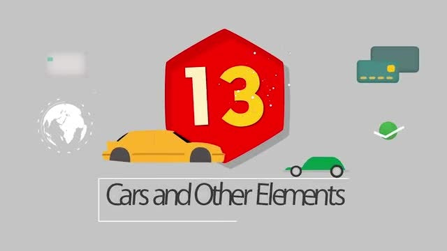 13 Cars and Icons: Stock Motion Graphics