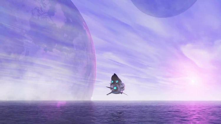 Spaceship: Motion Graphics