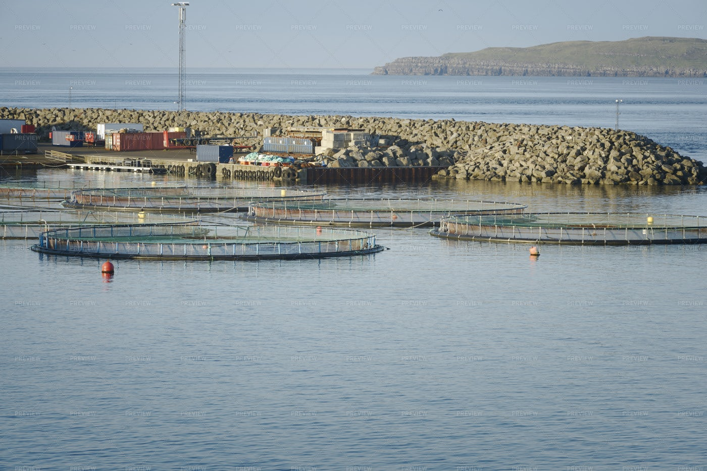 Fish Farm In Northern Norway: Stock Photos