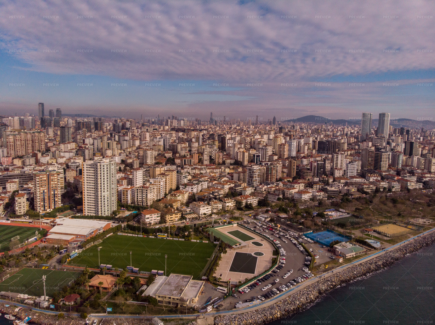 Sports Fields In Istanbul: Stock Photos