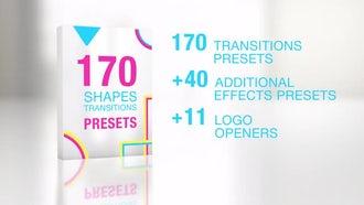 170 Shapes Transitions Presets: Premiere Pro Templates