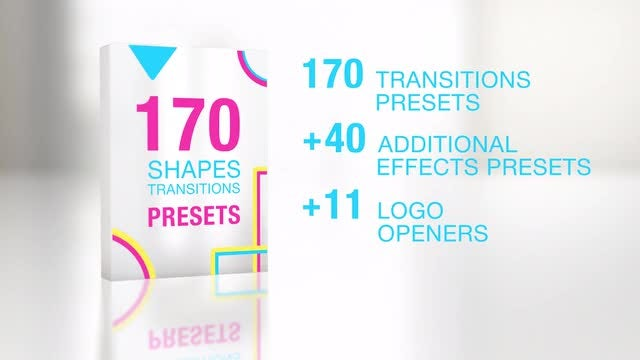 170 Shapes Transitions Presets: Premiere Pro Templates
