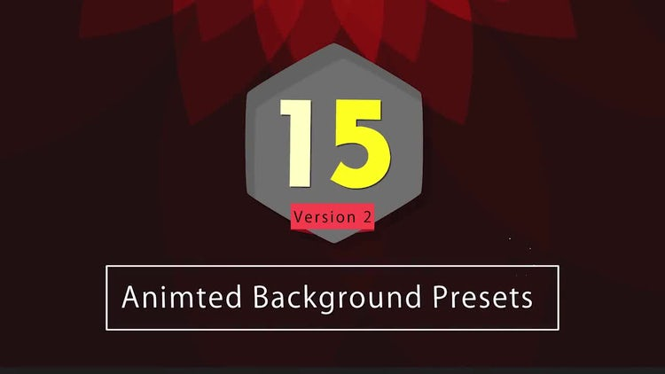 After Effects Presets: 15 Animated Backgrounds V2: After Effects Templates