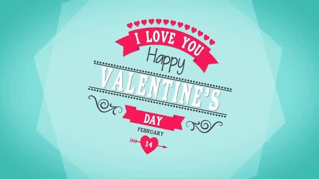 Valentines Day Logo Shapes: After Effects Templates
