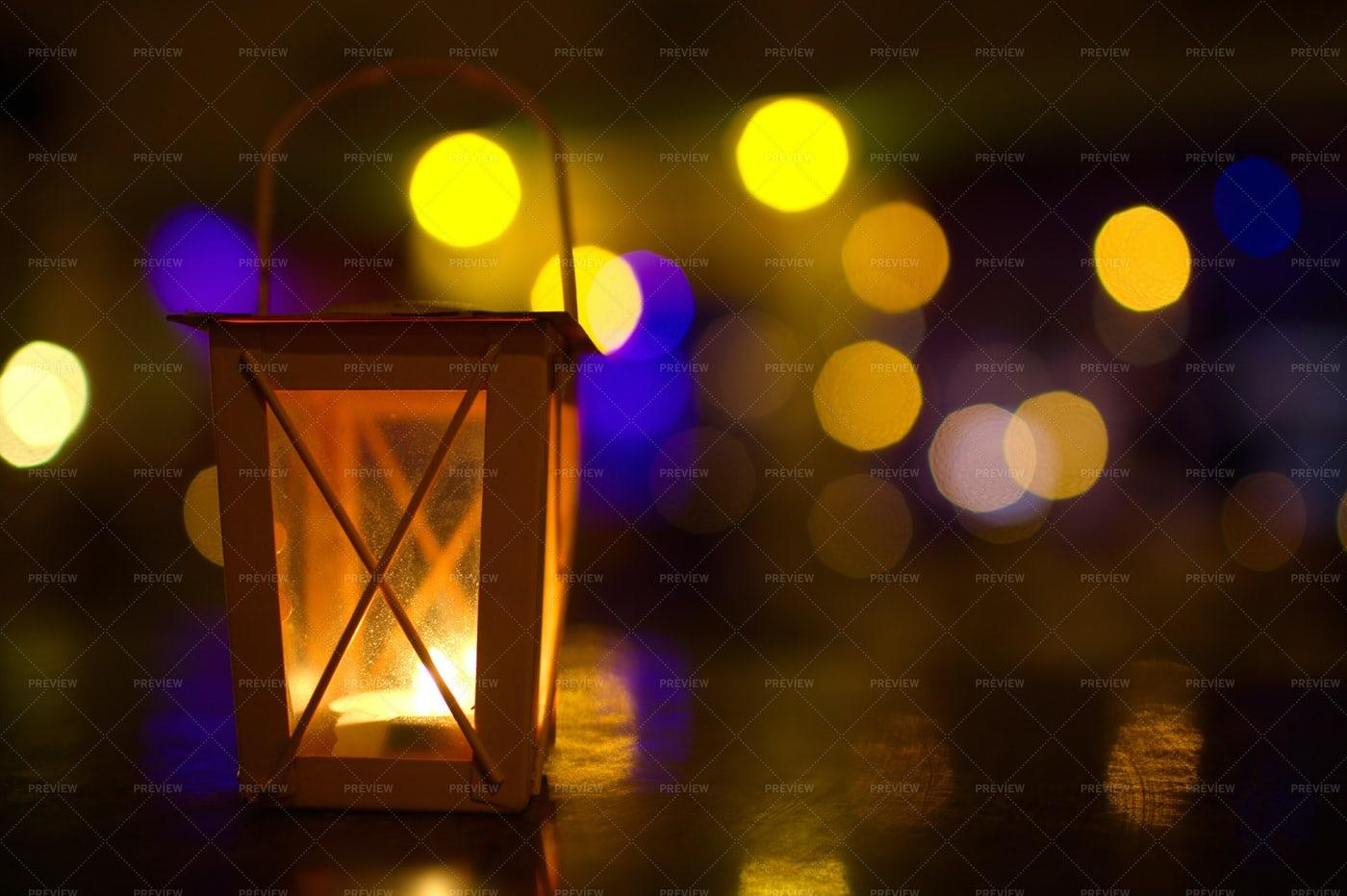 Lantern And Bokeh: Stock Photos
