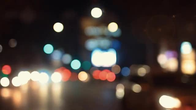 Traffic Bokeh Light: Stock Video