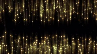 Gold Particles Drape Background: Motion Graphics
