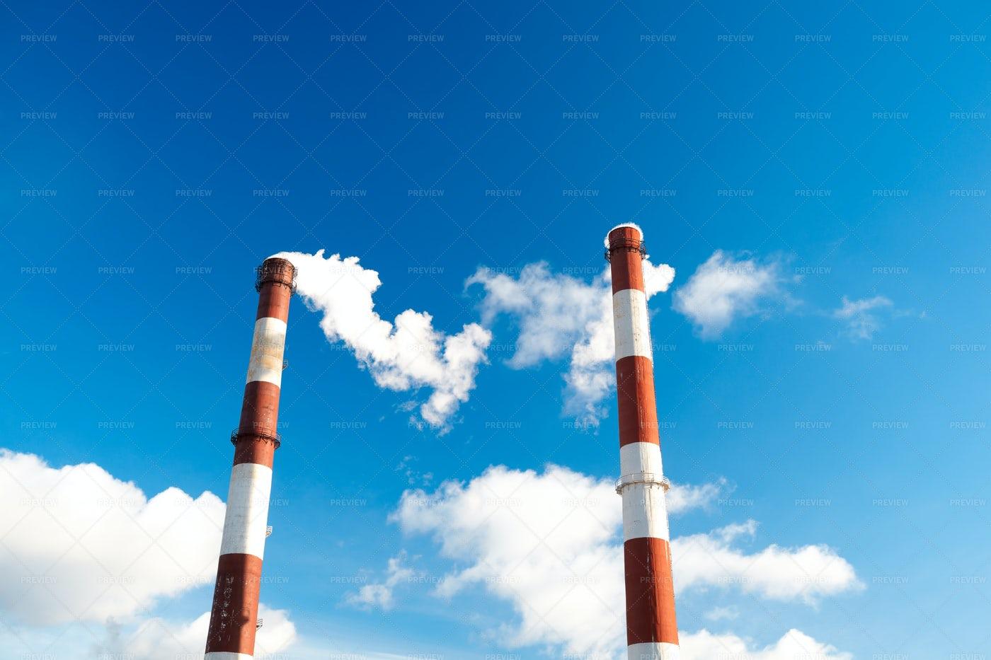 Factory Chimneys.: Stock Photos