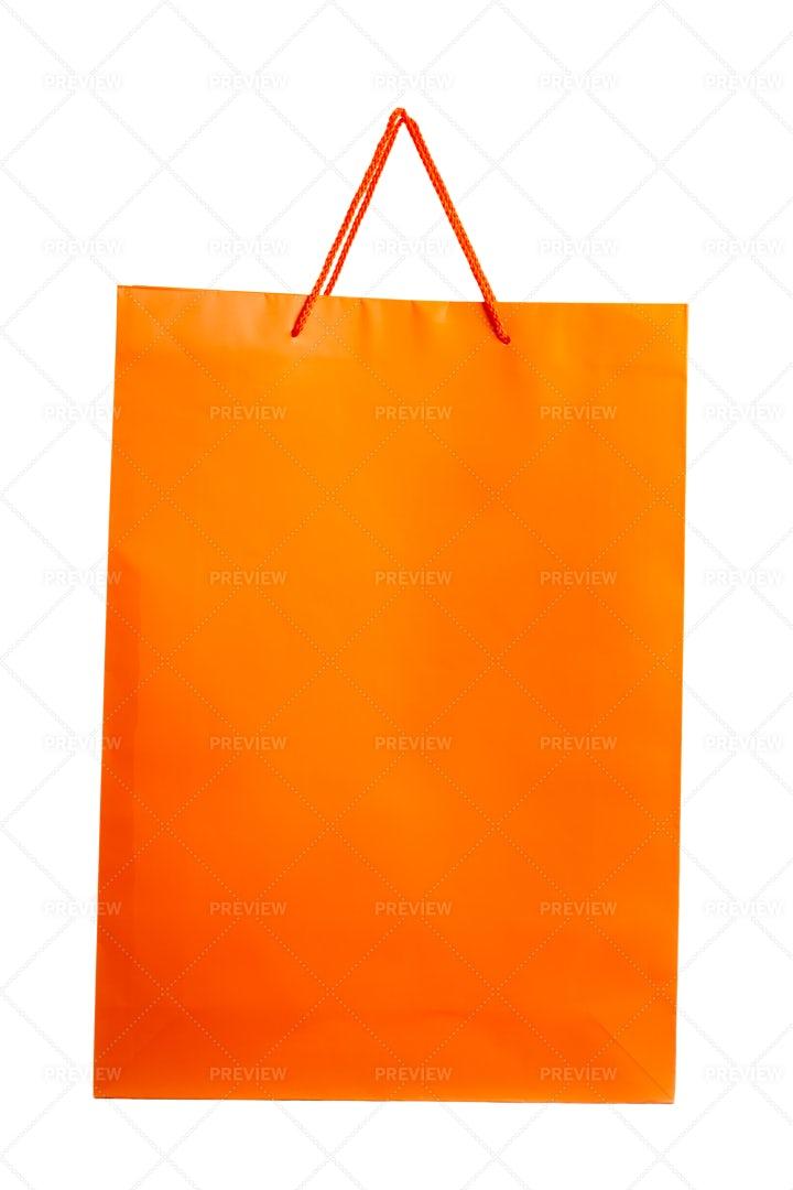 Orange Paper Bag: Stock Photos
