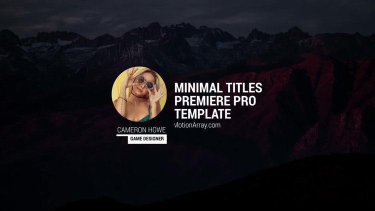 Photo Titles: Premiere Pro Templates