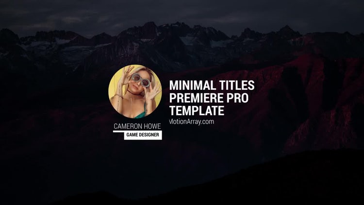 Photo Titles: Premiere Pro Templates
