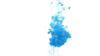 Blue ink in water : Stock Footage