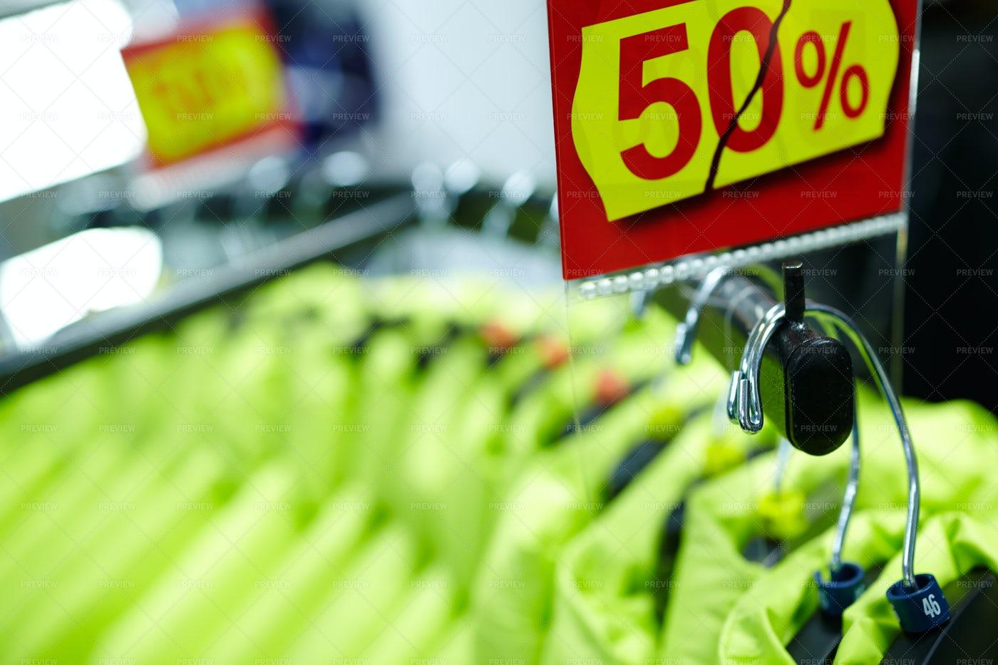 A Clothes Sale: Stock Photos