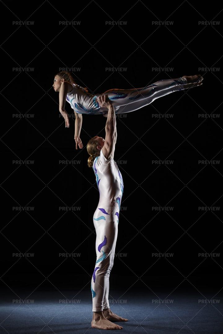 Peforming A Circus Lift: Stock Photos