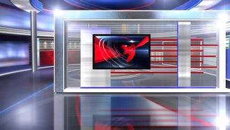 virtual set news long: Motion Graphics