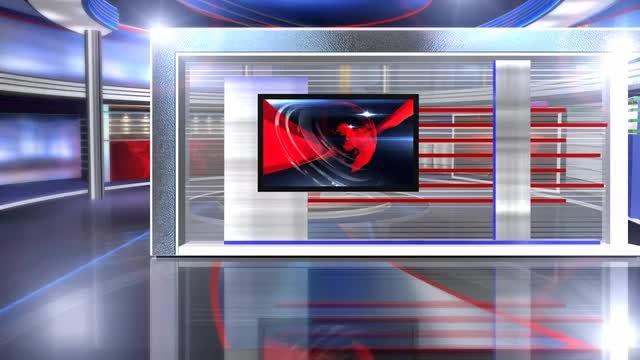 virtual set news long: Stock Motion Graphics