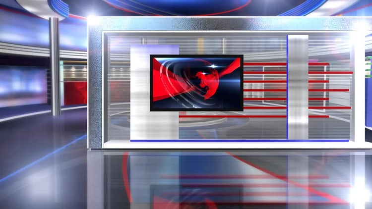virtual set news long: Motion Graphics