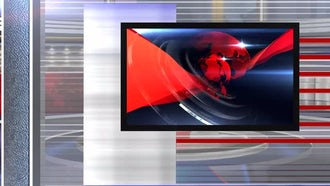 virtual set news left: Motion Graphics