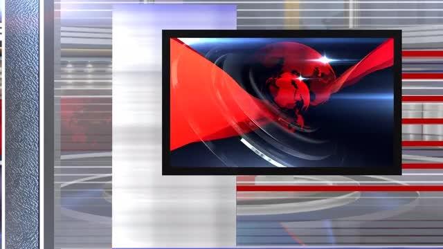 virtual set news left: Stock Motion Graphics