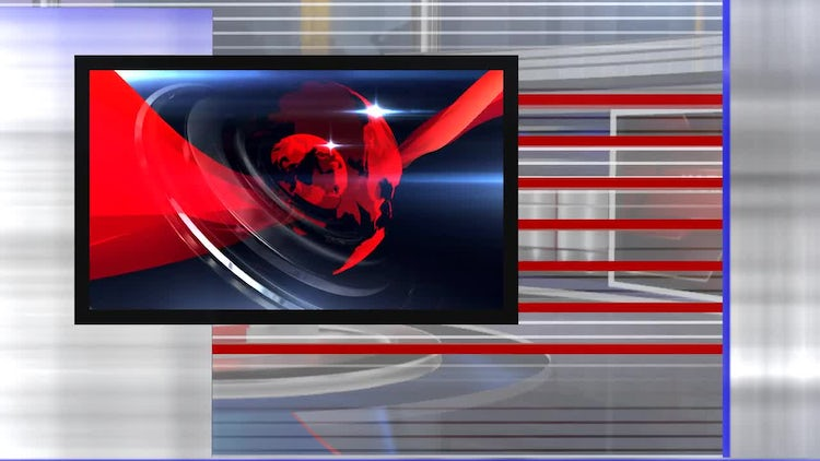 virtual set news right: Stock Motion Graphics