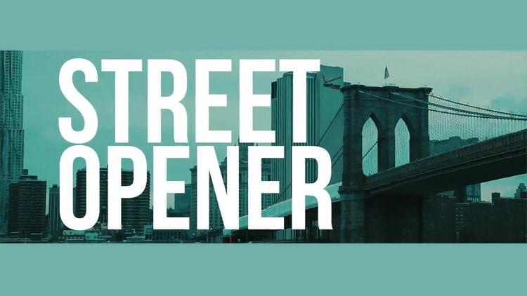 Street Opener: Premiere Pro Templates