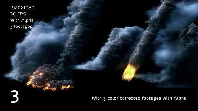Meteor Strike Scene: Stock Motion Graphics