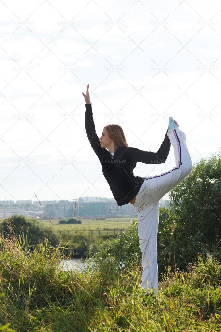 Yoga Asana Pose: Stock Photos
